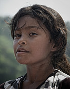 Portrair Posters - Indigenous child portrait Poster by Francesco Nadalini