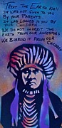 Martin Luther King Jr Paintings - INDIGENOUS MOTTO...Blue by Tony B Conscious