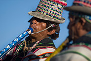 Traditional Photos - Indigenous music festivals. Republic of Bolivia by Eric Bauer