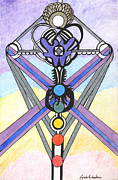 Chakra Drawings - Indigo Aura   by Lynda  Richardson