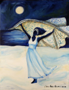 African American Women Paintings - Indigo Beach by Diane Britton Dunham