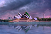 Iconic Design Prints - Indigo Concerto Sydney Opera House Print by Mark Richards