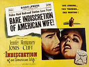 1950s Movies Photo Framed Prints - Indiscretion Of An American Wife, Aka Framed Print by Everett