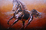 Animals Mixed Media Originals - Indomitable Spirit by Juan Jose Espinoza