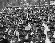 Rally Prints - Indonesians In An  Anti-sukarno Rally Print by Everett