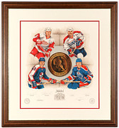 Hockey Mixed Media - Inductees 2001 Limited Edition by Daniel Parry