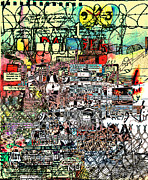Industrial Mixed Media Posters - Industrial Complex  Poster by Andy  Mercer