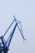 Hoist Photo Framed Prints - Industrial Crane Framed Print by Sam Bloomberg-rissman