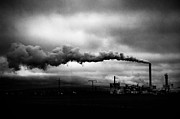 Black Top Prints - Industrial Eruption Print by Ilker Goksen