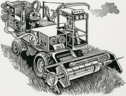 Man Machine Prints - Industrial Farming Print by Bill Sanderson