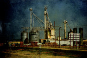 Silos Posters - Industrial Farming in Texas Poster by Susanne Van Hulst