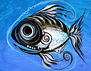 Tropical Fish Metal Prints - Industrial Goddess Metal Print by J Vincent Scarpace