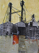 Industrial Mixed Media Posters - Industrial landscape 1 Poster by Elena Nosyreva