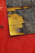 Old Wall Digital Art Prints - Industrial Red Wall Abstract Print by AdSpice Studios