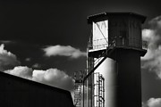 Fiber Glass  Framed Prints - Industrial Silo, Mizuho Framed Print by Photography by Stephen Cairns