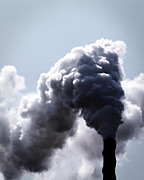 Polluting Prints - Industrial Smoke Stack Print by Jacobs Stock Photography