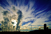 Industry Versus The Atmosphere Print by Shutter Happens Photography