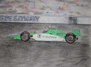 Eleven Paintings - Indy Car Racing by Kathy Marrs Chandler