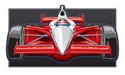 Indy Car Digital Art Framed Prints - Indy Car Framed Print by Steven Schader