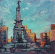 Monument Circle Prints - Indy Circle- Day Print by Donna Shortt