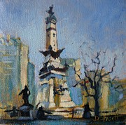Donna Shortt Metal Prints - Indy Circle Monument Metal Print by Donna Shortt