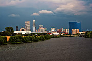 White River Prints - Indy HDR Storm Print by David Haskett