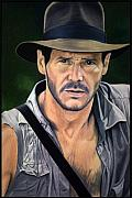 Hollywood Drawings - Indy by Maria Arango