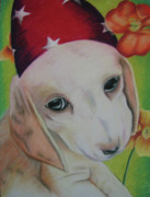 Cute Dog Pastels - Indy by Michelle Hayden-Marsan