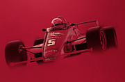 Red Car Art - Indy Racing by Jeff Mueller