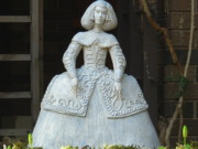 Figure Sculpture Ceramics Prints - Infanta Print by Anna Wiechec