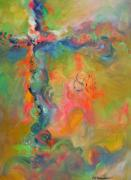 Religious Art Painting Prints - Infinite Light Print by Deb Magelssen