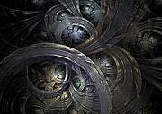 Swirl Digital Art Posters - Infinite On-Ramps Poster by David April