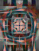 Abstract Metal Prints - Infinite Scrollwork Metal Print by Christopher Gaston