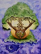 Celtic Knotwork Prints - Infinitree Print by Joyce Hutchinson
