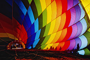 Hot Air Balloon Prints - Inflating a Hot Air Balloon Print by Jeremy Woodhouse