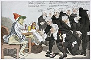 Walter Farquar Prints - Influenza Epidemic, Satirical Artwork Print by