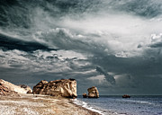 Birthplace Posters - Infrared Aphrodite Rock Poster by Stylianos Kleanthous