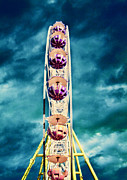 Metal Structure Digital Art Prints - infrared Ferris wheel Print by Stylianos Kleanthous