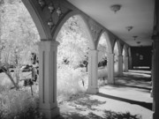 Rikka-chan  Framed Prints - Infrared photo of an archway in a Church Framed Print by Rikka-chan