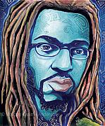 Marcus Paintings - Infused with the Blues by Marcus Kwame Anderson