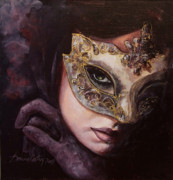 Mask Paintings - Ingredient of mystery  by Dorina  Costras