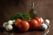 Fresh Food Prints - Ingredients Print by Jeannie Burleson