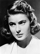 Ingrid Framed Prints - Ingrid Bergman, Ca. Early 1940s Framed Print by Everett