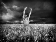 Nude Photo Prints - Inhaling Thunder Print by Chance Manart