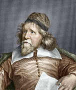 European Artwork Metal Prints - Inigo Jones, English Architect Metal Print by Sheila Terry