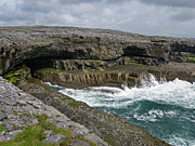 Aran Islands Framed Prints - Inis Mor Coastline Framed Print by John Burnett