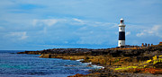 Aran Islands Framed Prints - Inis Oirr Lighthouse Framed Print by Gabriela Insuratelu