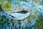 Environmental Painting Prints - Injured Whale Print by J Vincent Scarpace