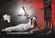 Human Rights Painting Prints - Injustice Print by Susi Galloway