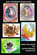 Anne Cameron Cutri Acrylic Prints - Ink Blots to Metaphorical Narrative Acrylic Print by Anne Cameron Cutri